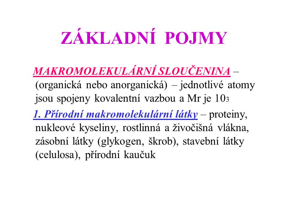 ZÁKLADNÍ POJMY 2.