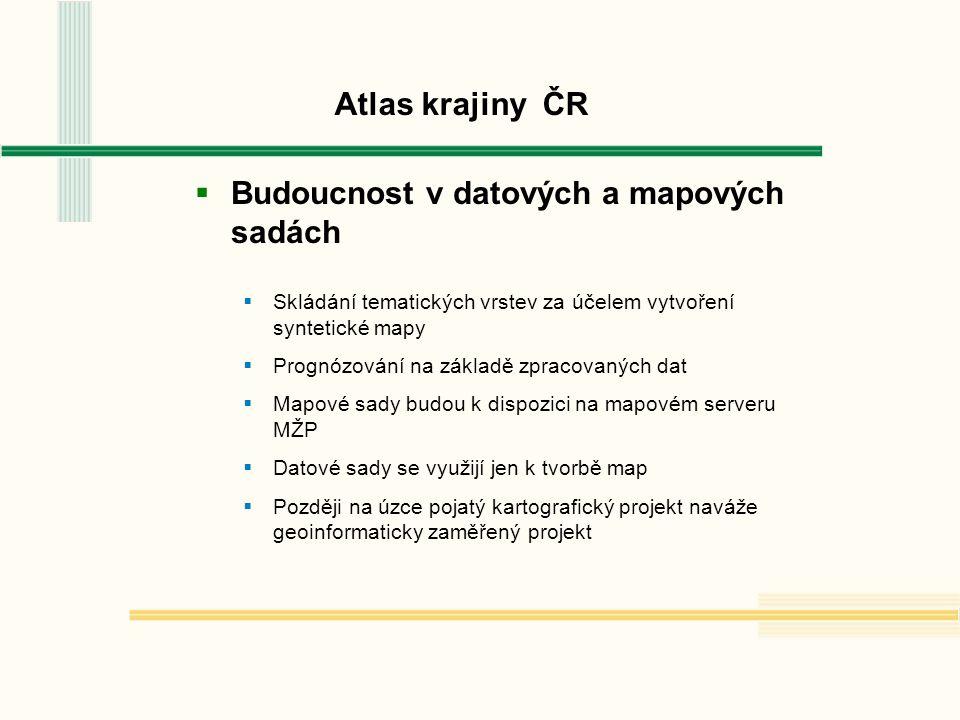 Atlas krajiny ČR  Přednášející děkují za pozornost a loučí se s přáním získat nové poznatky pro prezentaci dalších výsledků  na shledanou