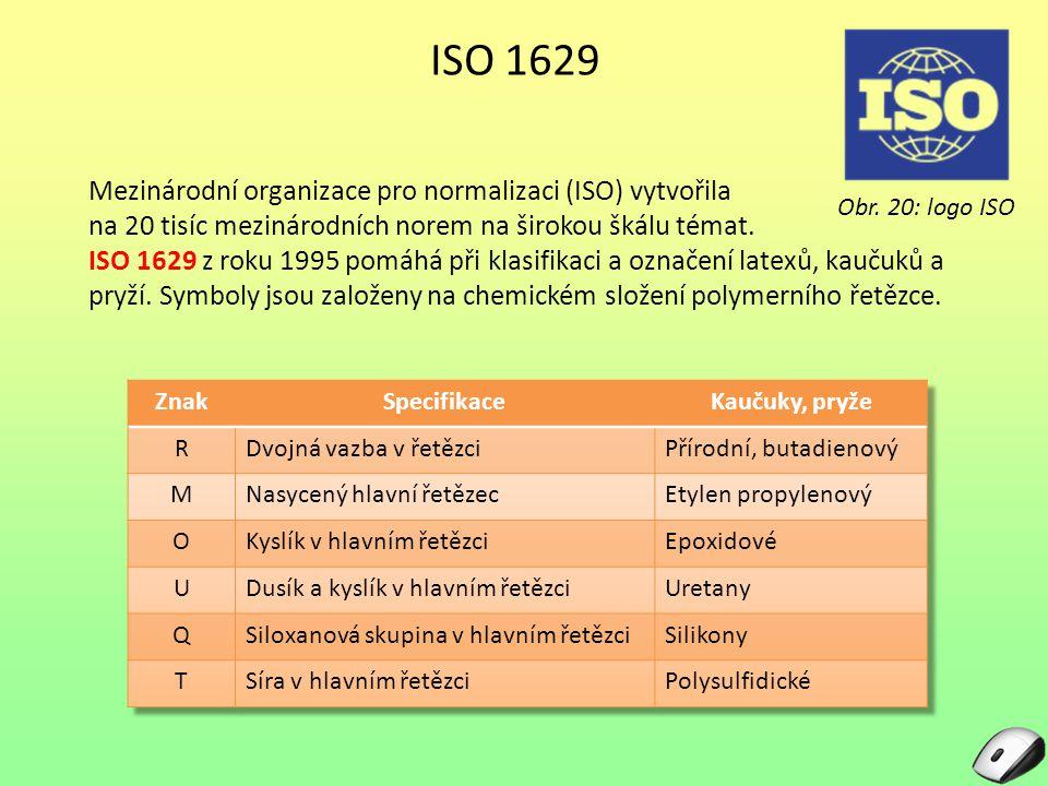ISO 1629 Mezinárodní organizace pro normalizaci (ISO) vytvořila na 20 tisíc mezinárodních norem na širokou škálu témat. ISO 1629 z roku 1995 pomáhá př