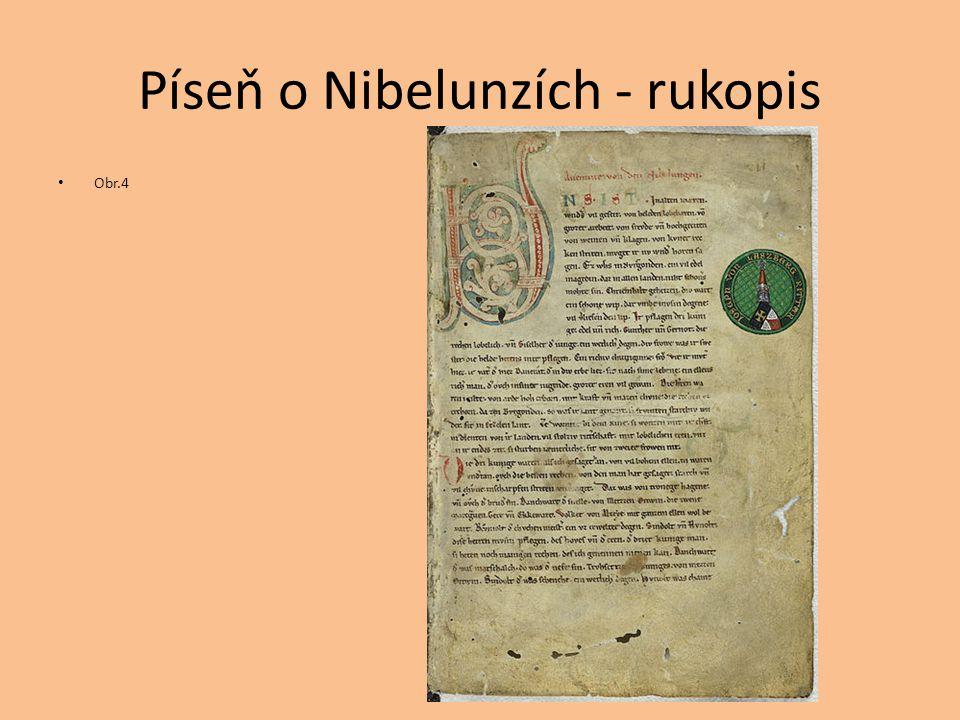 Píseň o Nibelunzích - rukopis Obr.4