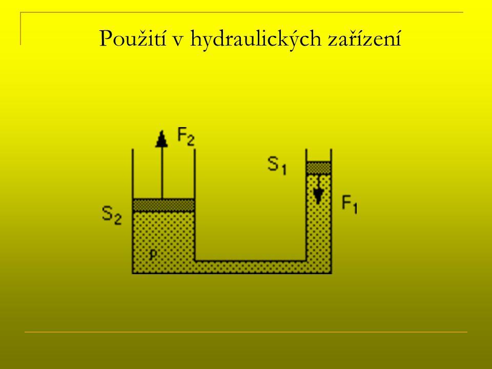 Použití v hydraulických zařízení