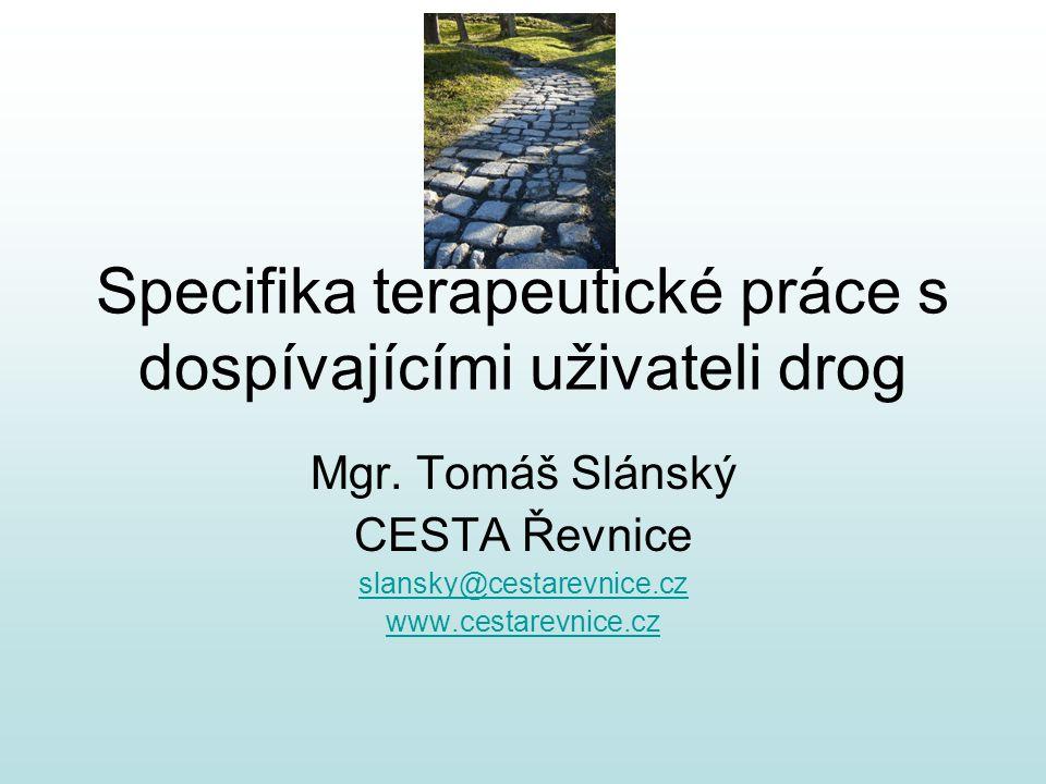 Specifika terapeutické práce s dospívajícími uživateli drog Mgr.