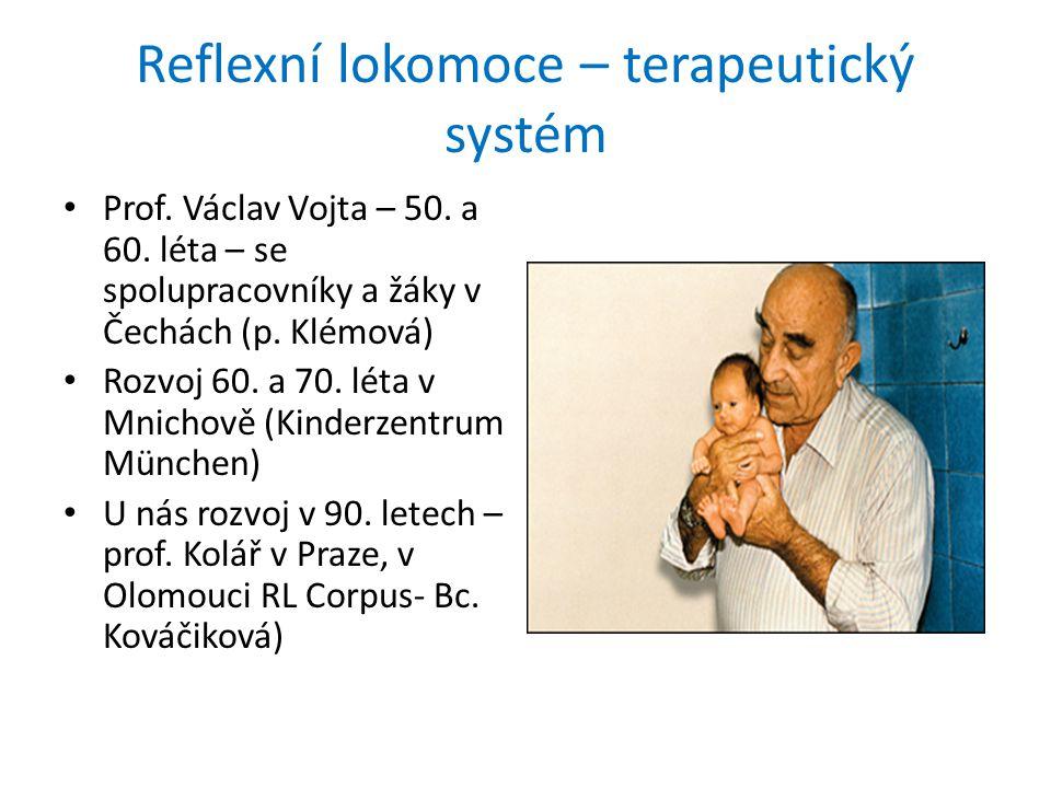 Reflexní lokomoce – terapeutický systém Prof.Václav Vojta – 50.