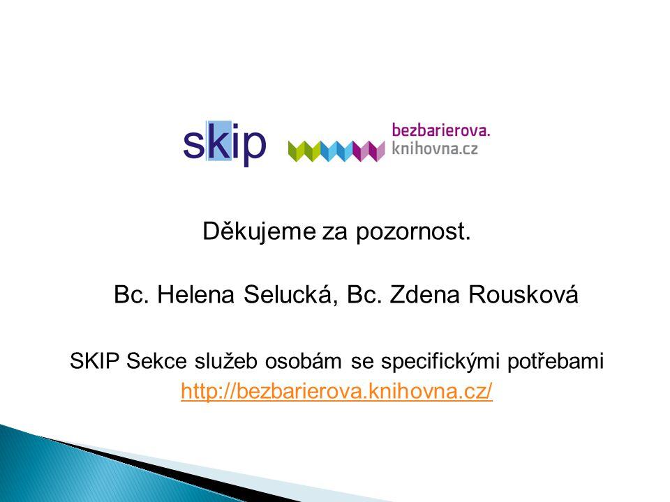 Děkujeme za pozornost. Bc. Helena Selucká, Bc.