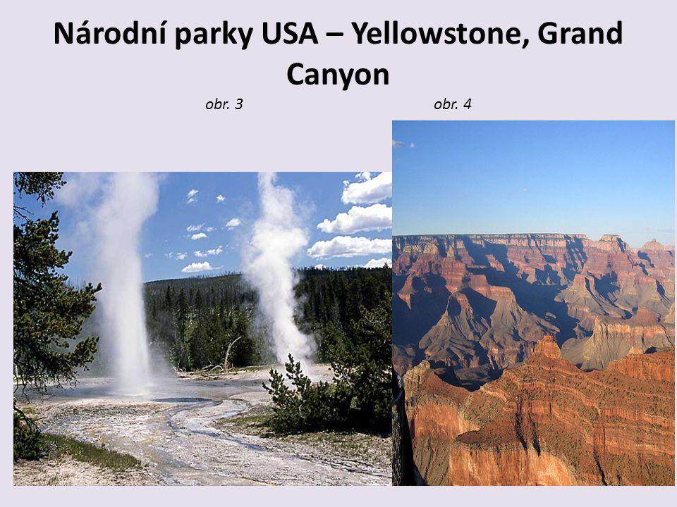 Národní parky USA – Yellowstone, Grand Canyon obr. 3 obr. 4