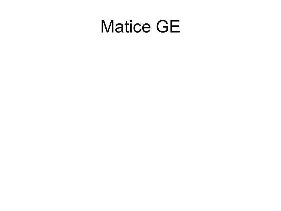 Zóny matice GE