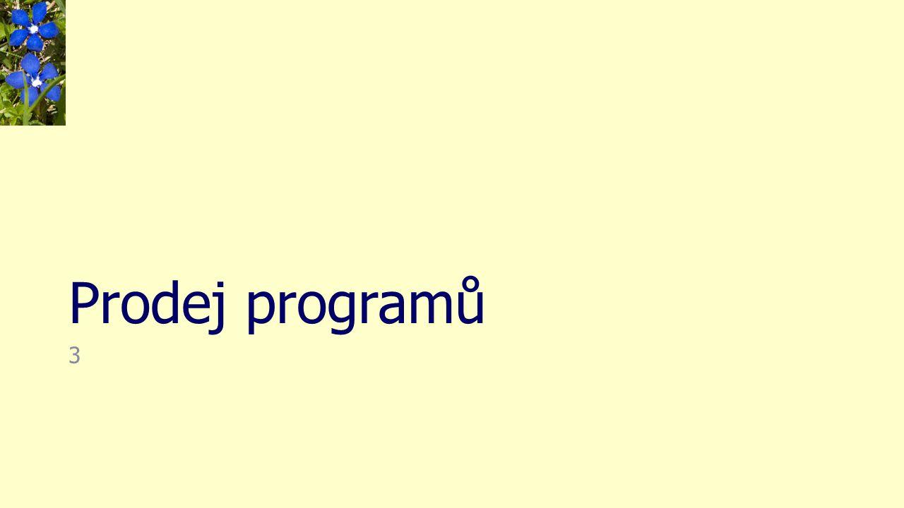 Prodej programů 3