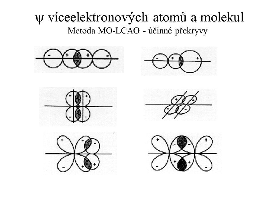  víceelektronových atomů a molekul Metoda MO-LCAO - účinné překryvy