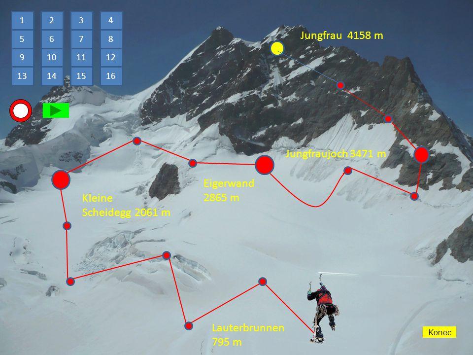 AUF und AB Nahoru a dolů Jungfrau 4158 m Návod Prameny Zajímavosti Hra Konec