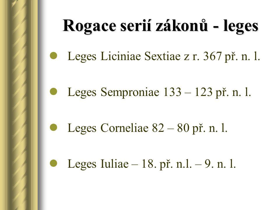 Rogace serií zákonů - leges Leges Liciniae Sextiae z r.