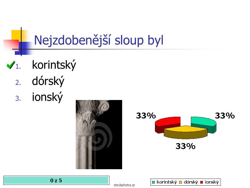 Hlavici zdobenou dvěma závity měl sloup 0 z 5 1. ionský 2. korintský 3. dórský mramor-alekos.cz