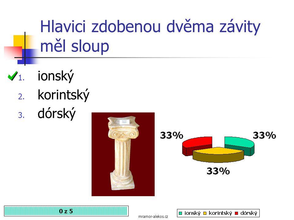 Nejstarší sloup, mohutný a málo zdobený je 0 z 5 1. dórský 2. ionský 3. korintský mramor-alekos.cz