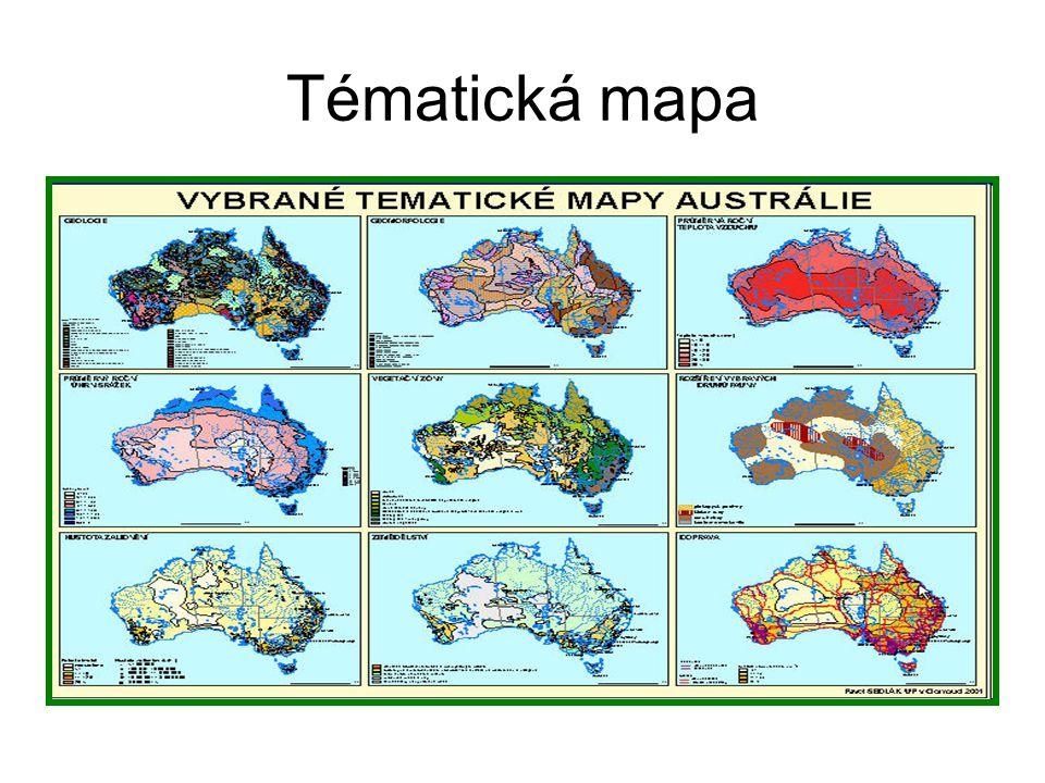 Tématické mapy administrativní politická