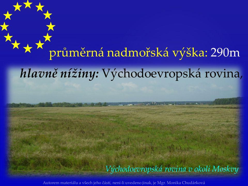 Autorem materiálu a všech jeho částí, není-li uvedeno jinak, je Mgr. Monika Chudárková Povrch Evropy