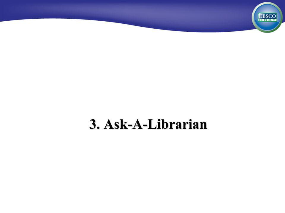 3. Ask-A-Librarian
