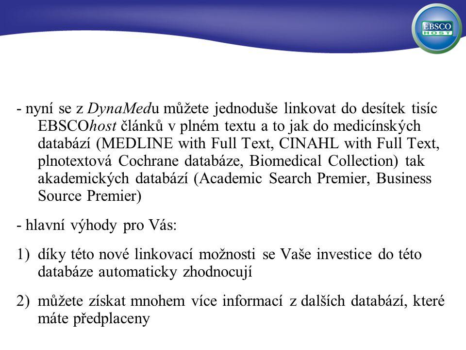 Požadavky na databáze založené na důkazech 1.Systematically identify the evidence 2.