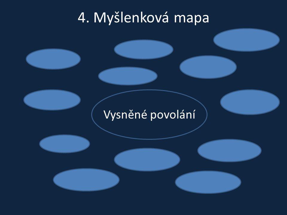 4. Myšlenková mapa Vysněné povolání