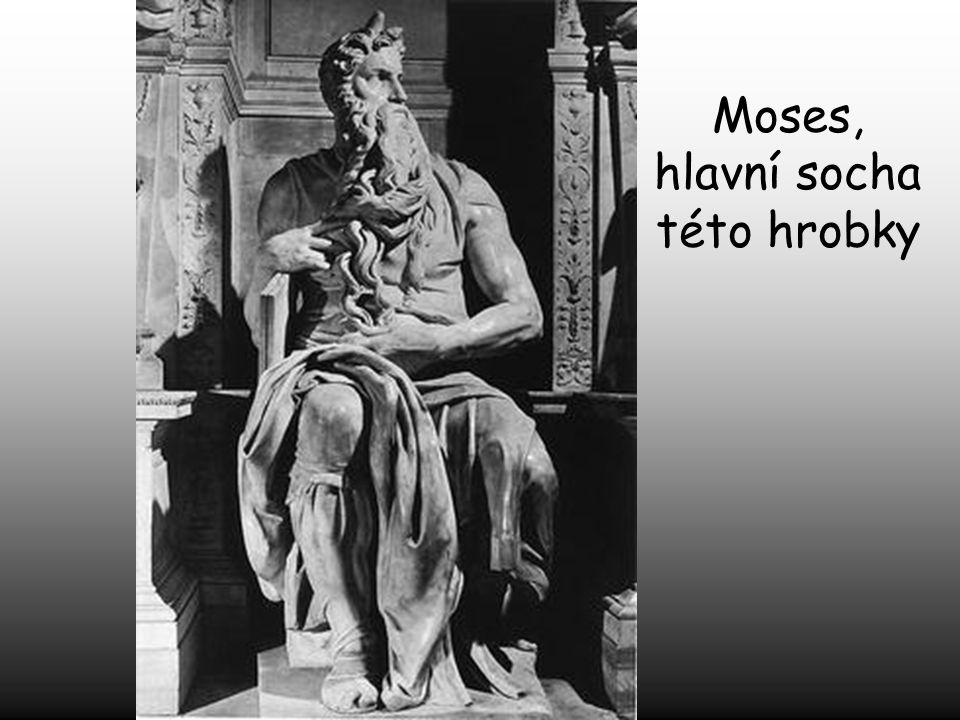 Papež Julius II. jej pověřil postavením velkolepé hrobky. Pracoval na tom roky, ale nedokončil stavbu 40-ti objednaných soch.