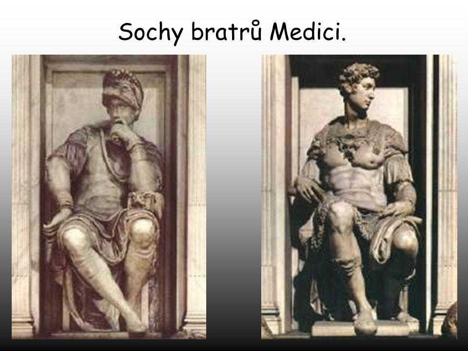 Michelangelo byl pověřen, aby postavil hrobku i rodině Medici.
