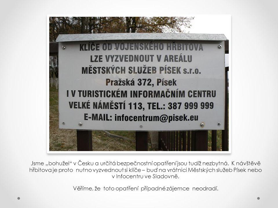 V rámci kaple jsou opět (v souladu s doloženou historickou tradicí) uloženy také nově vypracované seznamy všech osob pohřbených zde v letech 1914-1945