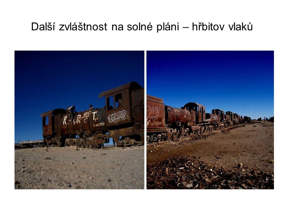 Další zvláštnost na solné pláni – hřbitov vlaků
