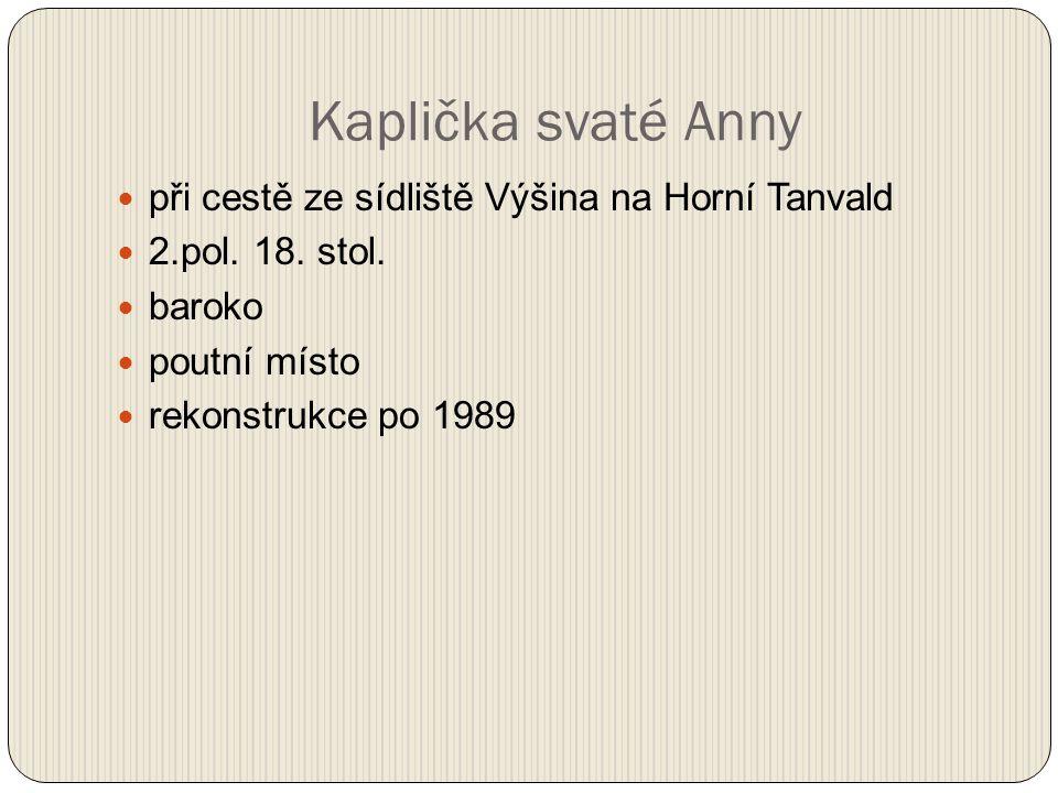při cestě ze sídliště Výšina na Horní Tanvald 2.pol.