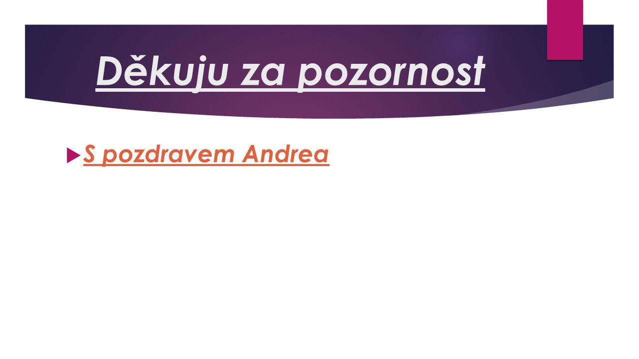 Děkuju za pozornost  S pozdravem Andrea