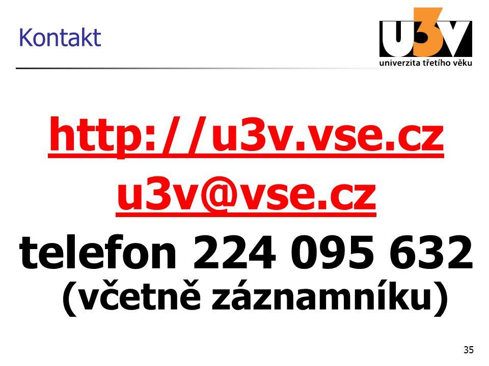 35 Kontakt http://u3v.vse.cz u3v@vse.cz telefon 224 095 632 (včetně záznamníku)