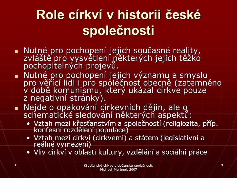 1.Křesťanské církve v občanské společnosti. Michael Martinek 2007 14 Doba Karla IV.