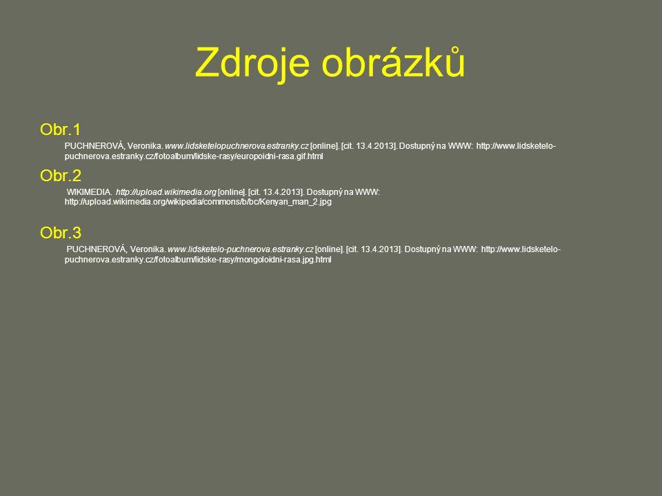 Zdroje obrázků Obr.1 PUCHNEROVÁ, Veronika. www.lidsketelopuchnerova.estranky.cz [online].