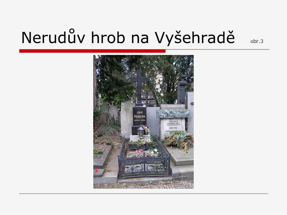 Nerudův hrob na Vyšehradě obr.3