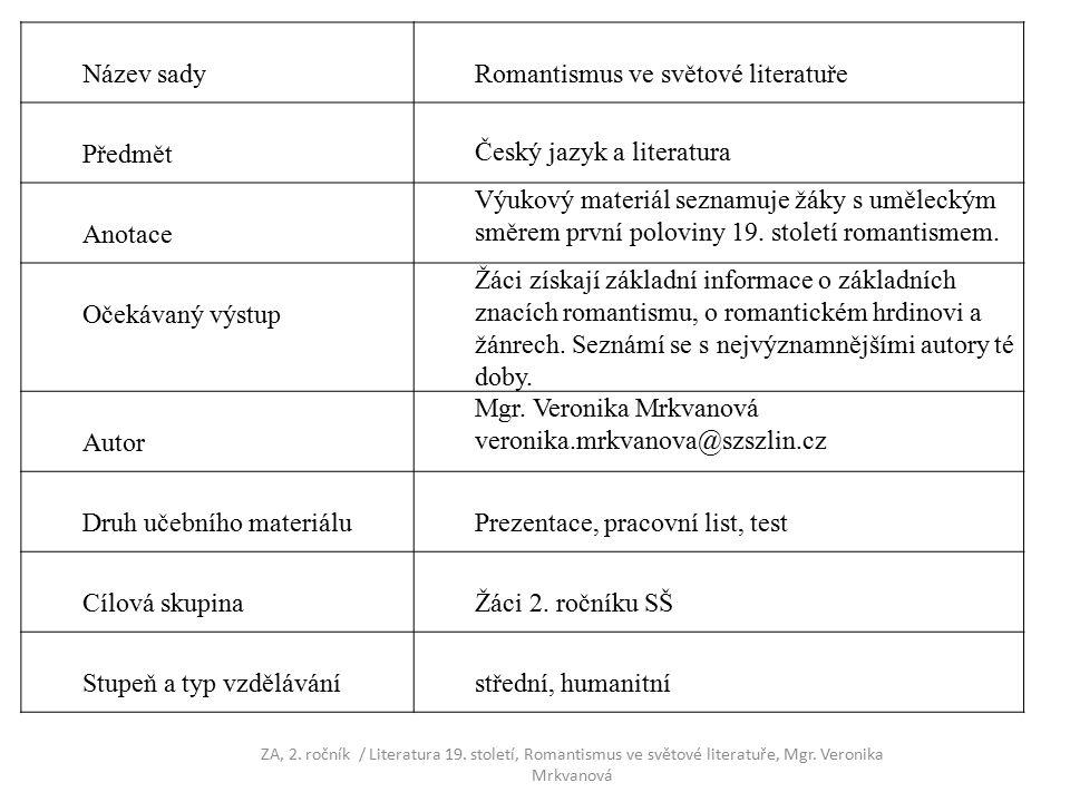 Seznam použité literatury Prokop, V.Literatura 19.