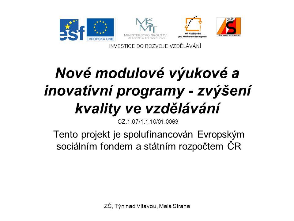 Romantismus Dějepis, 8.ročník Mgr. L. Šnorková ZŠ, Týn nad Vltavou, Malá Strana