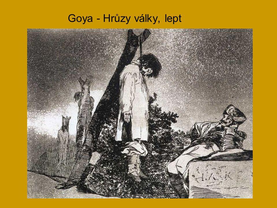 Goya - Hrůzy války, lept