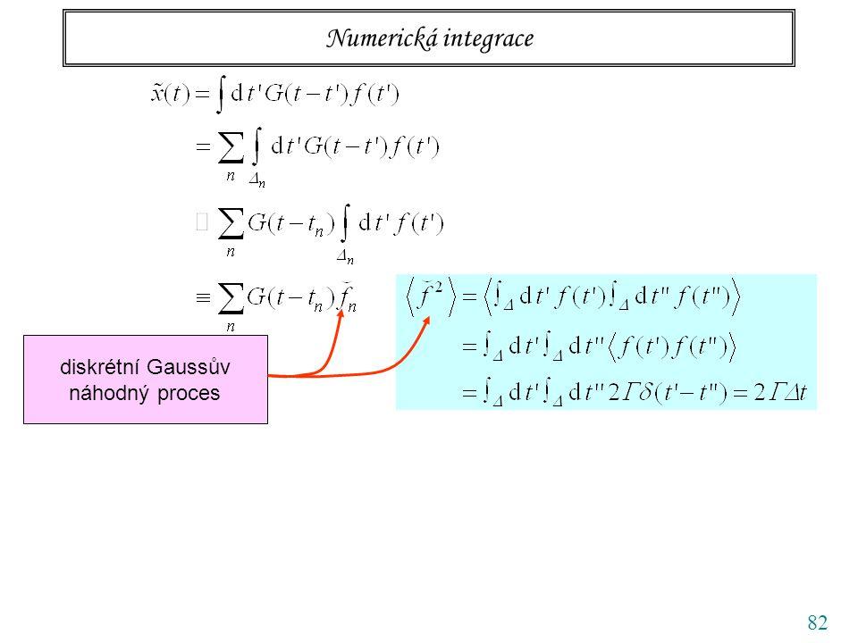 82 Numerická integrace diskrétní Gaussův náhodný proces