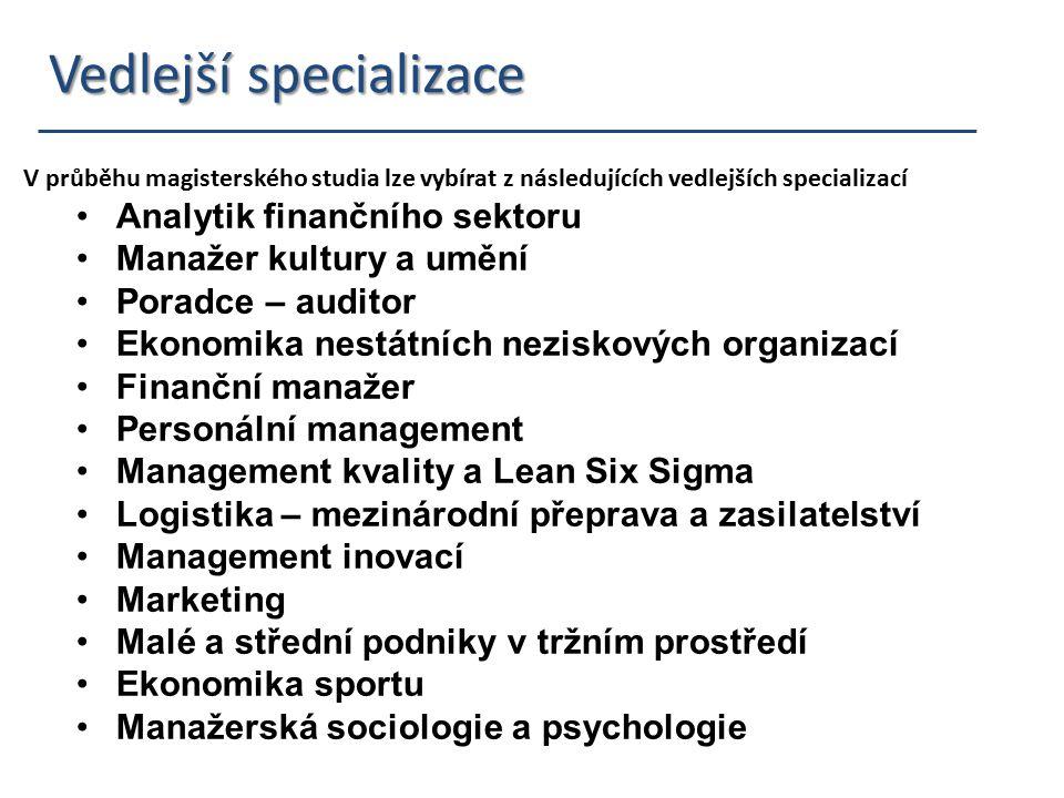 Vedlejší specializace Vedlejší specializace V průběhu magisterského studia lze vybírat z následujících vedlejších specializací Analytik finančního sek