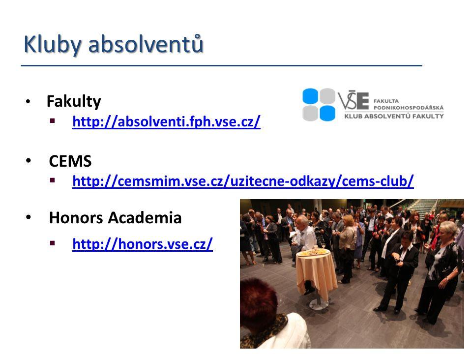 Kluby absolventů Kluby absolventů Fakulty  http://absolventi.fph.vse.cz/ http://absolventi.fph.vse.cz/ CEMS  http://cemsmim.vse.cz/uzitecne-odkazy/c