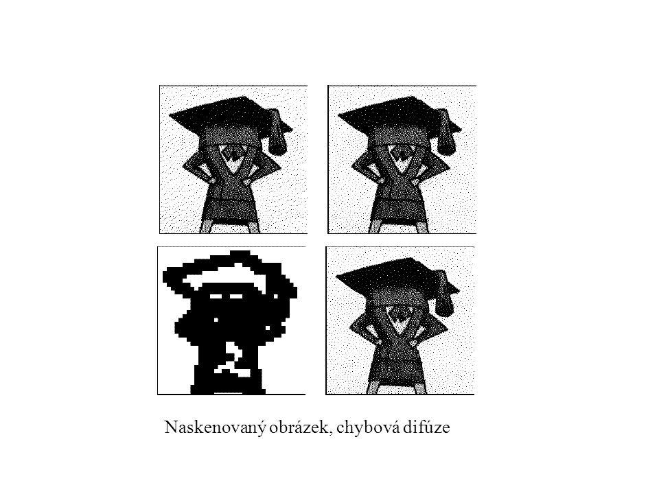 Naskenovaný obrázek, chybová difúze