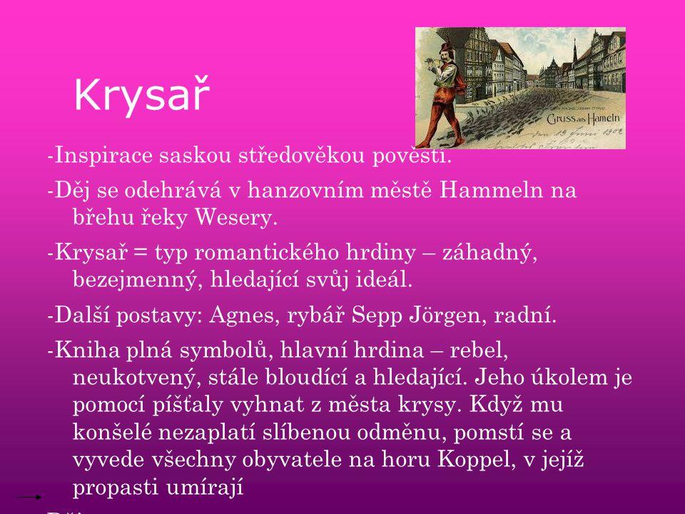Krysař -Inspirace saskou středověkou pověstí.