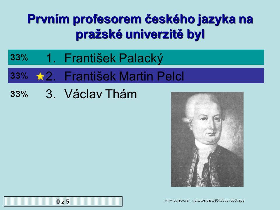 J. Dobrovský zamítl tzv. analogický pravopis. Souhlasíte 1.Ano 2.Ne 0 z 5
