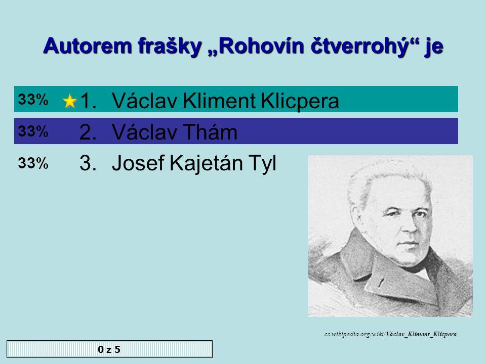 Prvním profesorem českého jazyka na pražské univerzitě byl 0 z 5 1.František Palacký 2.František Martin Pelcl 3.Václav Thám www.cojeco.cz/...//photos/