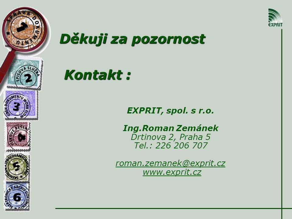 Kontakt : EXPRIT, spol. s r.o.