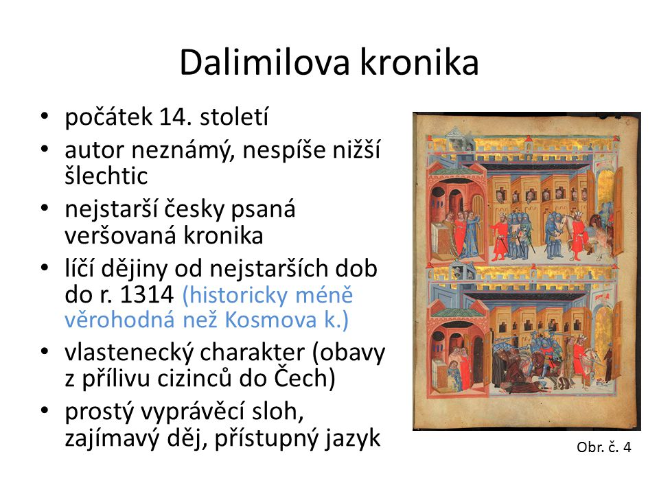 Dalimilova kronika počátek 14.