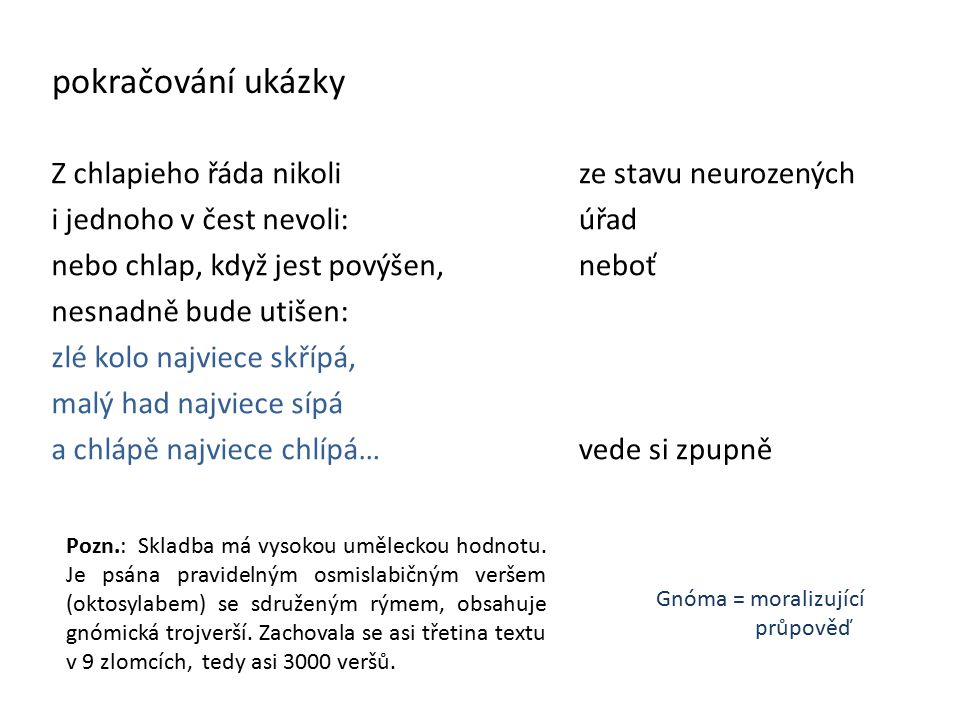 Dalimilova kronika Kronika tak řečeného Dalimila Obr. č. 3