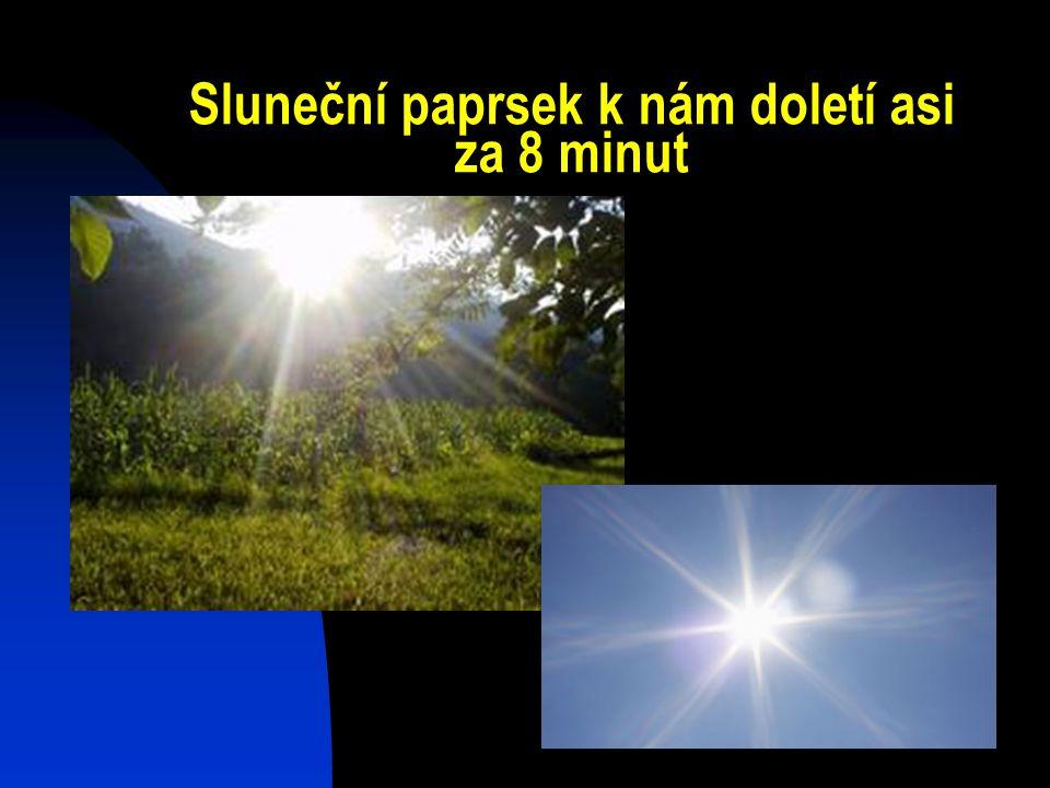 Sluneční paprsek k nám doletí asi za 8 minut