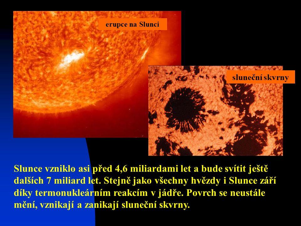Slunce vzniklo asi před 4,6 miliardami let a bude svítit ještě dalších 7 miliard let.