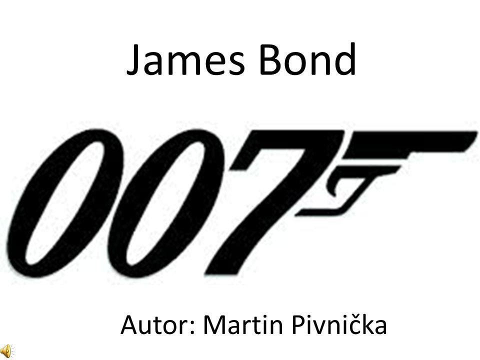 James Bond je to fiktivní tajný agent, též známý jako agent 007 slouží v britské tajné službě MI6 postavu vytvořil spisovatel Ian Fleming v roce 1952 autorská práva pro 23 oficiálních filmů Jamese Bonda vlastní společnost MGM zatím poslední díl série filmů o Jamesi Bondovi se jmenuje Skyfall (k tomuto dílu nazpívala soundtrack slavná zpěvačka Adele) Základní údaje