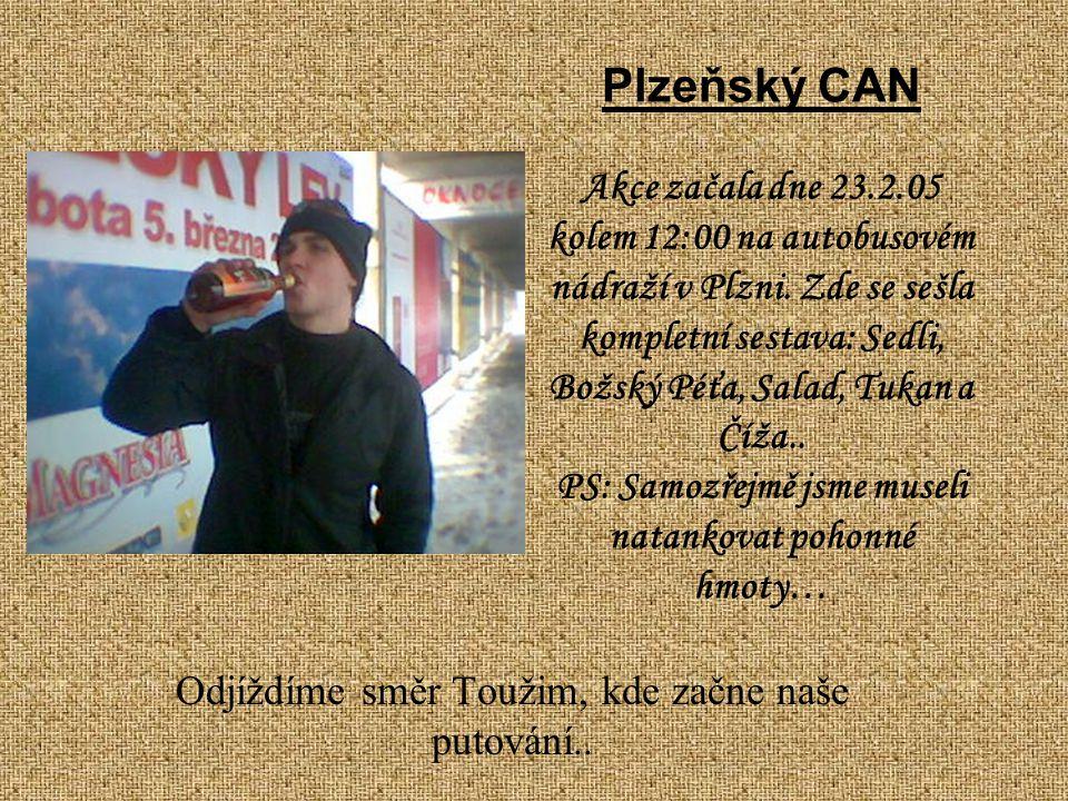 Plzeňský CAN Akce začala dne 23.2.05 kolem 12:00 na autobusovém nádraží v Plzni.