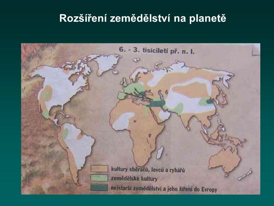 Rozšíření zemědělství na planetě