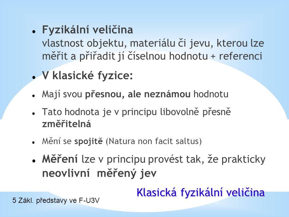 * Popis Objekt Fyzika newtonovská 6 Zákl. představy ve F-U3V